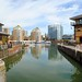 Limehouse Basin from Limehouse Ship Lock
