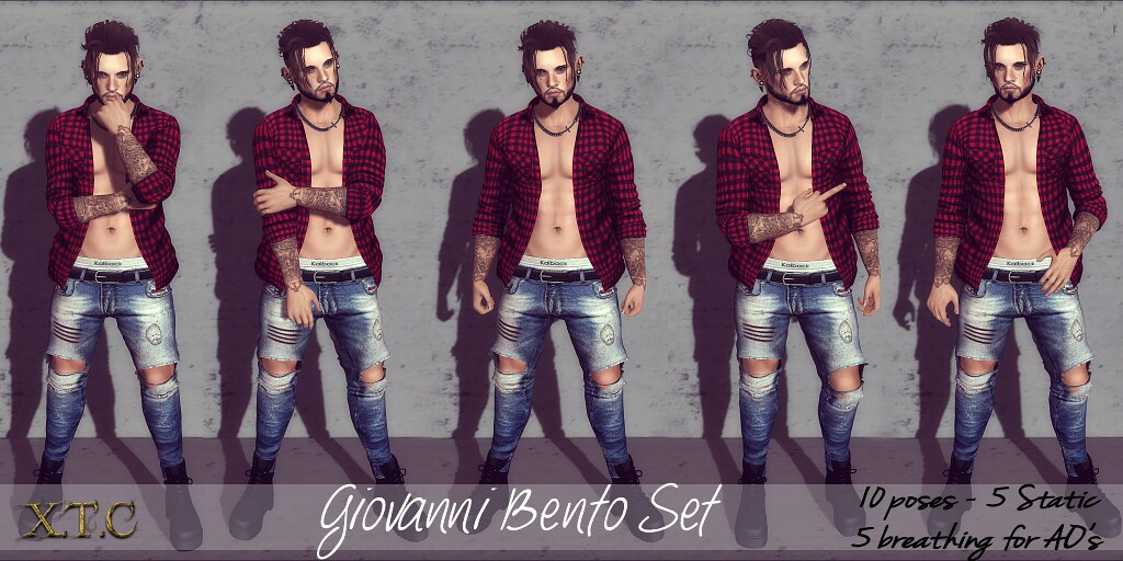 POSE FAIR! Giovanni Bento set (breathing)