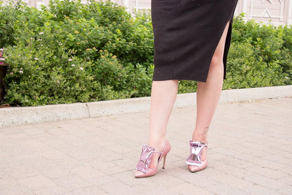 Minna Parikan kengät, korkokengät, vaaleanpunainen glitter, Minna Parikka Goodie