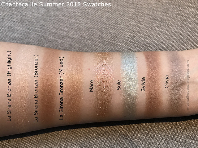 Chantecaille Summer 2018 Swatches La Sirena Bronzer Eyeshadows