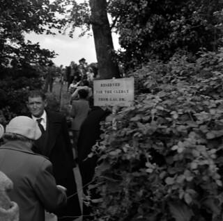 """""""Clergy"""" sign, St. Columcille's Well, Ballycullen, Rathfarnham, Co. Dublin"""
