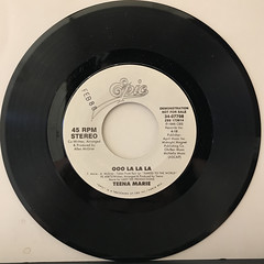 TEENA MARIE:OOO LA LA LA(RECORD SIDE-B)