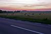 Morgendämmerung am östlichen Dorfrand