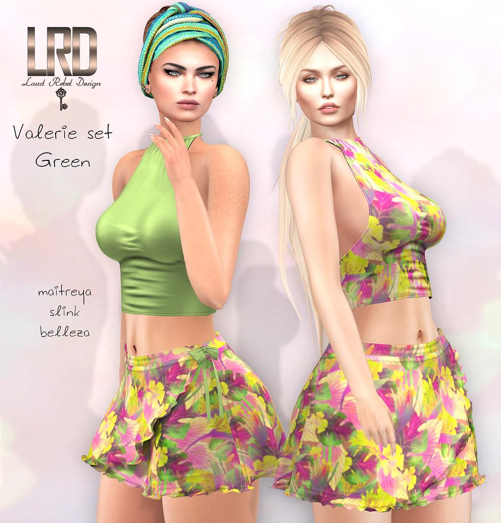 LRD Valerie set green - TeleportHub.com Live!