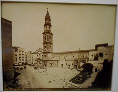 Piazza del Carmine in Naples (about 1865-1872) - Achille Mauri edition - Naples, private collection, now at exhibition Alphonse Bernoud, pioneer of photography, up to September 25, 2018 at Carthusian monastery and museum of San Martino in Naples