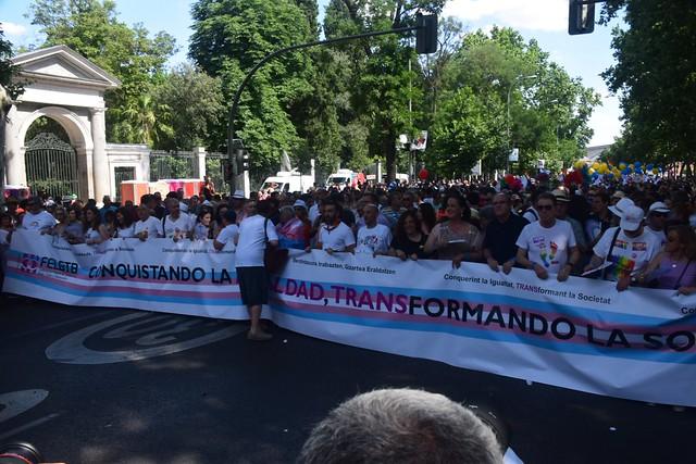 Manifestación Orgullo LGTBI 2018