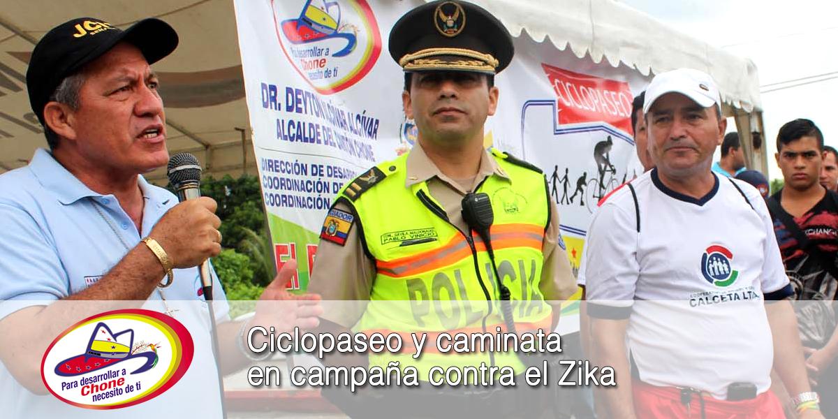 Ciclopaseo y caminata en campaña contra el Zika