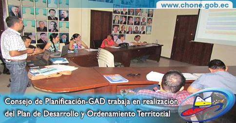 Consejo de Planificación-GAD trabaja en realización del Plan de Desarrollo y Ordenamiento Territorial