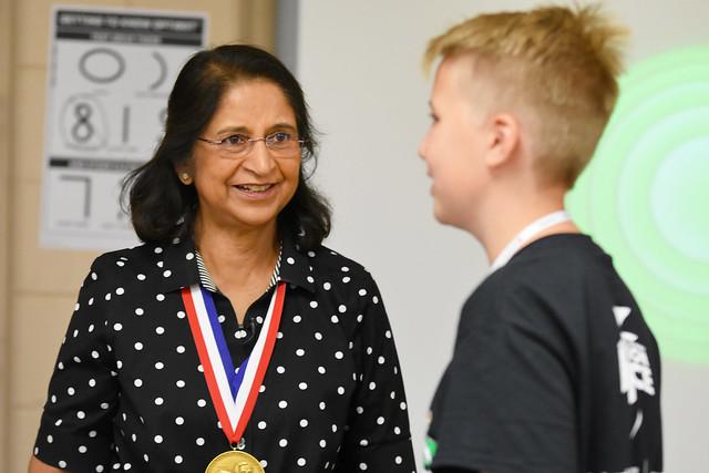 Dr. Sumita Mitra visits Oak Ridge Camp Invention