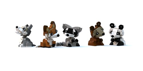 Pandas, Bears, Wolfs, Foxes, Raccoons oh my!