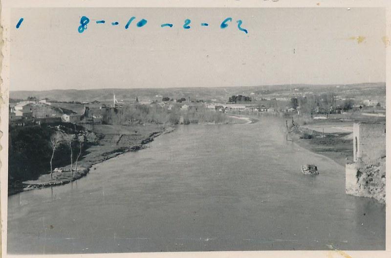 Baño de la Cava y Río Tajo en 1962. Fotografía de Julián C.T.
