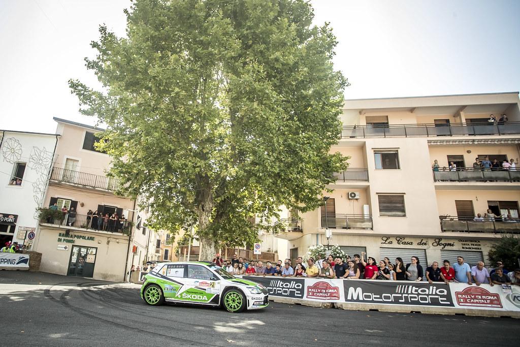 21 Umberto Scandola (ITA), Guido D'Amore (ITA), S.A. Motorsport Italia Srl, SKODA FABIA R5, during the 2018 European Rally Championship ERC Rally di Roma Capitale,  from july 20 to 22 , at Fiuggi, Italia - Photo Gregory Lenormand / DPPI