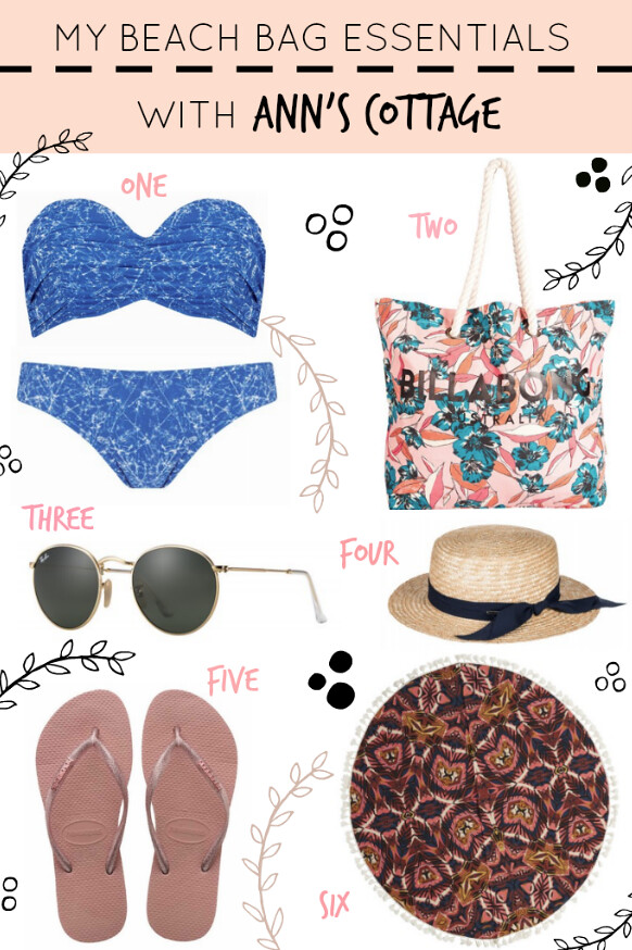 beach bag essentials, fashion, Anns cottage, Anns cottage summer range, carry on essentials, packing for a short break, ibiza essentials, packing for ibiza,