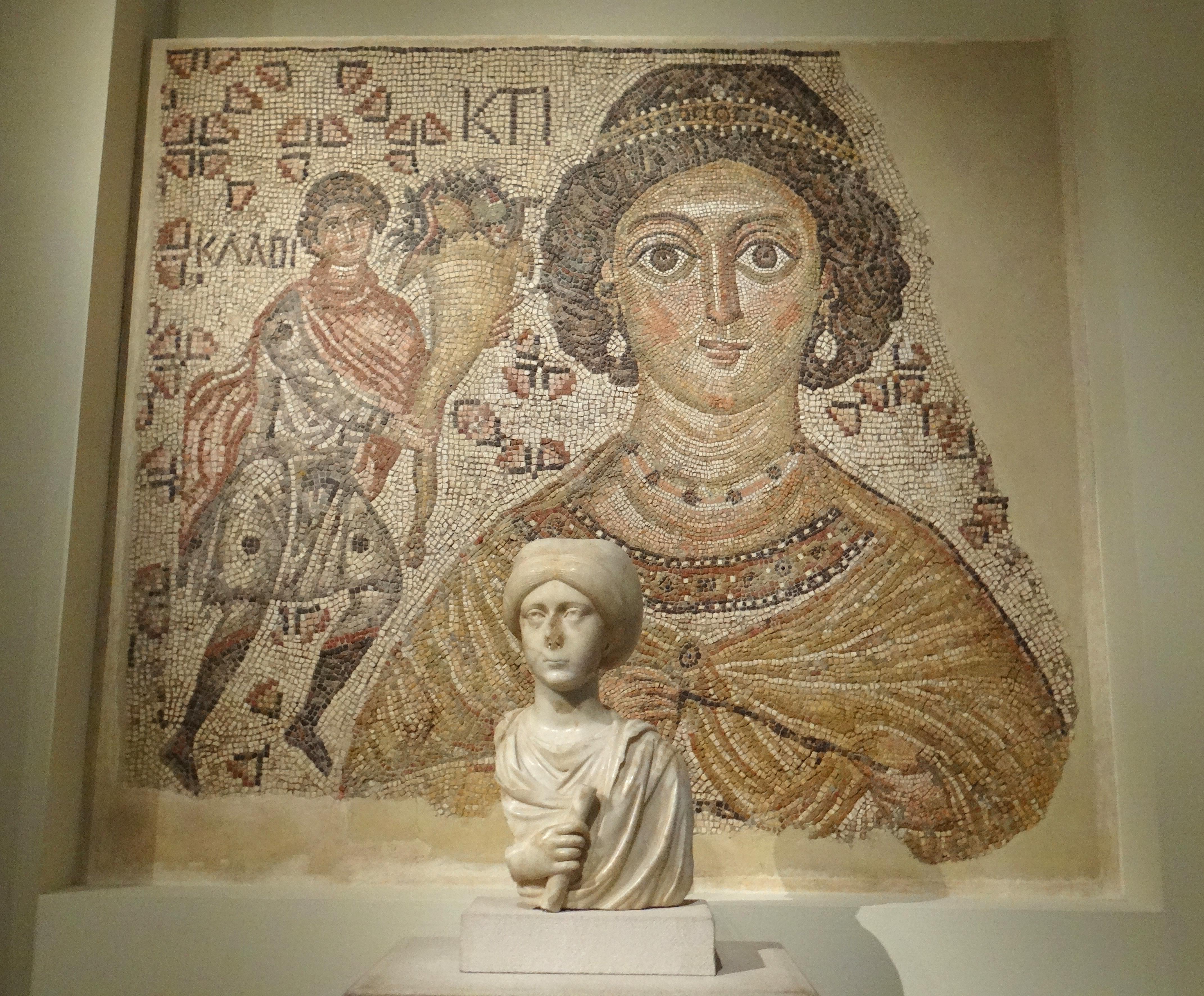 Byzantine Fresco & Bust