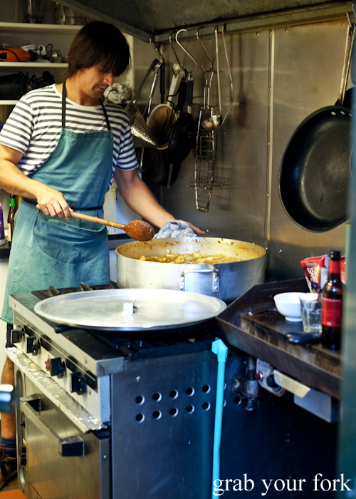 Volunteer chef in the kitchen at the Gure Txoko Basque Club in Sydney