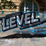 Newly painted Level sign for Preston Guild Hall
