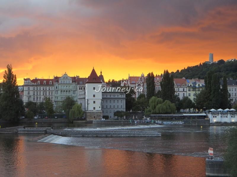 Vltava River at Sunset, Prague