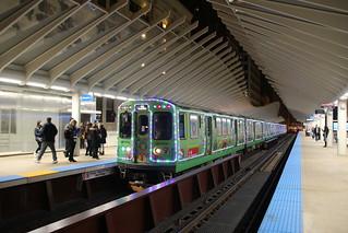 CTA Holiday Train at Washington/Wabash