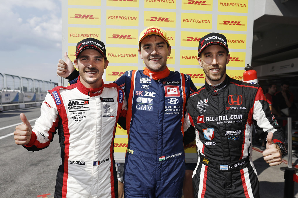 COMTE Aurelien, (fra), Peugeot 308 TCR team DG Sport Competition, portrait MICHELISZ Norbert, (hun), Hyundai i30 N TCR team BRC Racing, portrait GUERRIERI Esteban, (arg), Honda Civic TCR team ALL-INKL.COM Munnich Motorsport, portrait during the 2018 FIA WTCR World Touring Car cup race of Slovakia at Slovakia Ring, from july 13 to 15 - Photo François Flamand / DPPI.