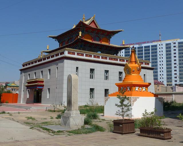 Stupa beim Gandan Kloster Mongolei