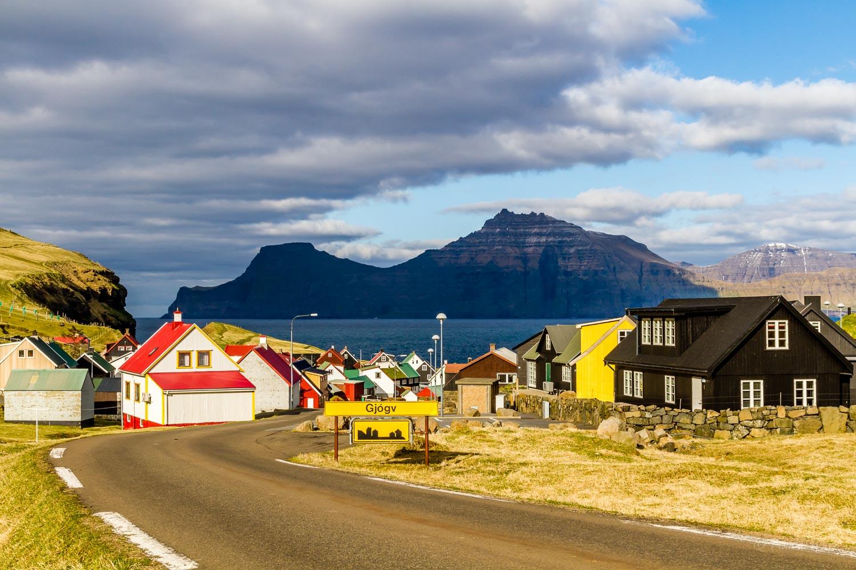Driving into Gjógv, Faroe Islands. Photo taken on May 18, 2016.