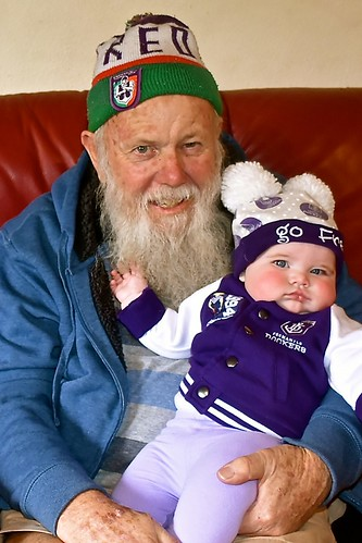 Paul Weaver with grand-daughter Charlotte 1 July 2018