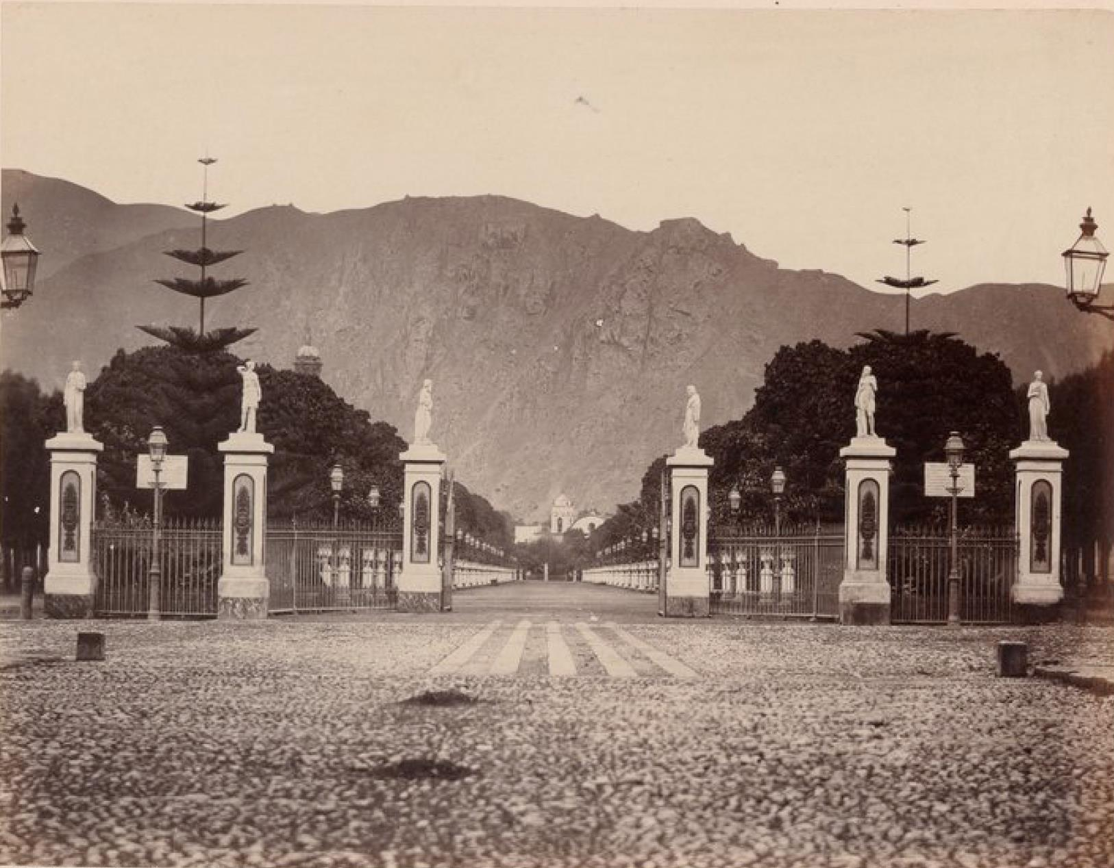 Лима. Западный вход в сад Ордена босоногих кармелитов.