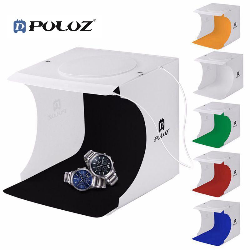Hộp chụp sản phẩm 2 bảng LED 6 màu Backdrops PULUZ size 24x23x22cm