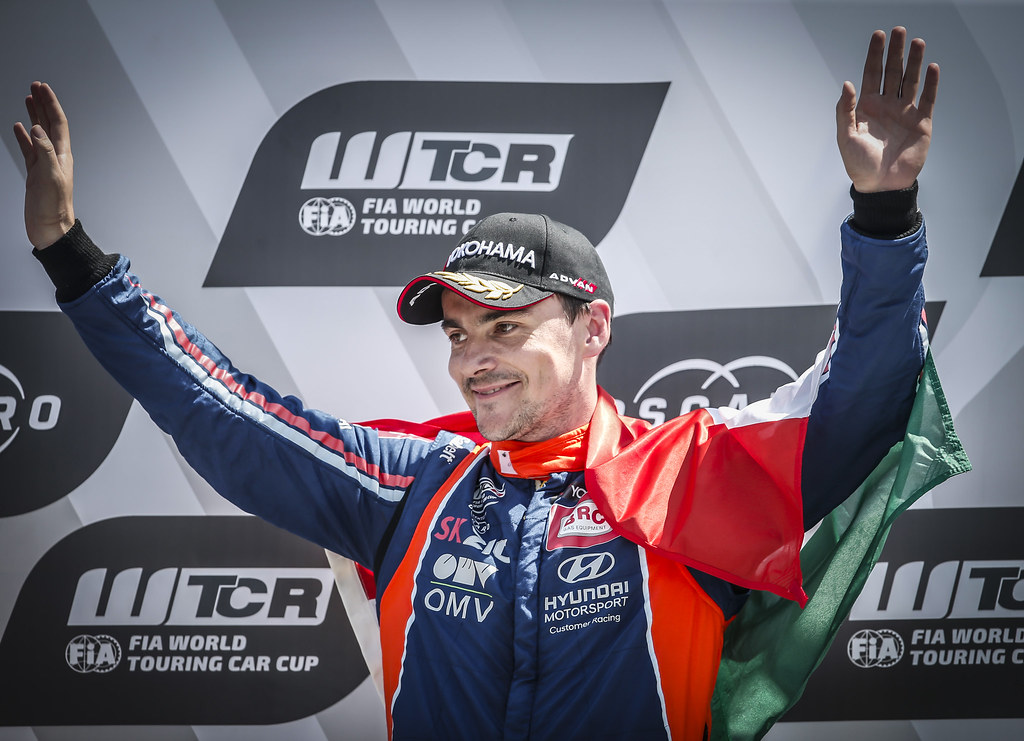 MICHELISZ Norbert, (hun), Hyundai i30 N TCR team BRC Racing, portrait WINNER race 3 during the 2018 FIA WTCR World Touring Car cup race of Slovakia at Slovakia Ring, from july 13 to 15 - Photo Jean Michel Le Meur / DPPI