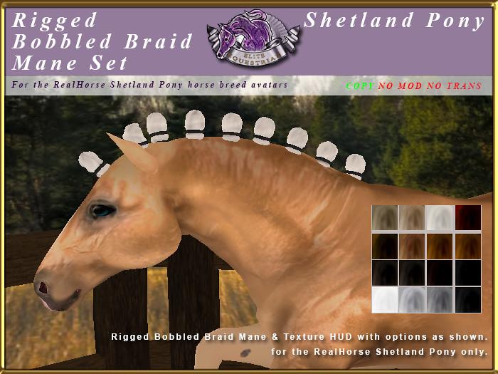E-RH-Shetland-ManeSet-BobbledBraid - TeleportHub.com Live!