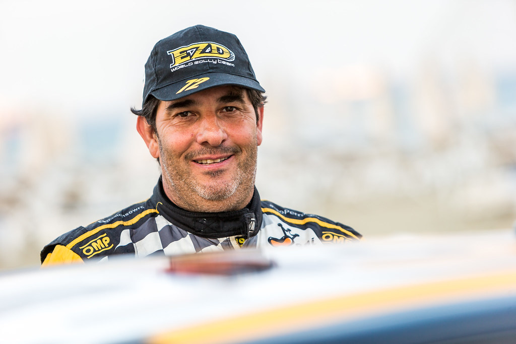 ALONSO Juan Carlos (ARG) MONASTEROLO Juan Pablo (ARG), JUAN CARLOS ALONSO, MITSUBISHI LANCER EVO X, portrait during the 2018 European Rally Championship ERC Cyprus Rally,  from june 15 to 17 at Larnaca, Cyprus - Photo Thomas Fenetre / DPPI