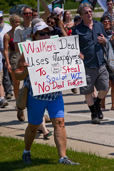 Protesting the Soon to be Built Foxconn Electronics Plant Mt. Pleasant Wisconsin 6-28-18  2074