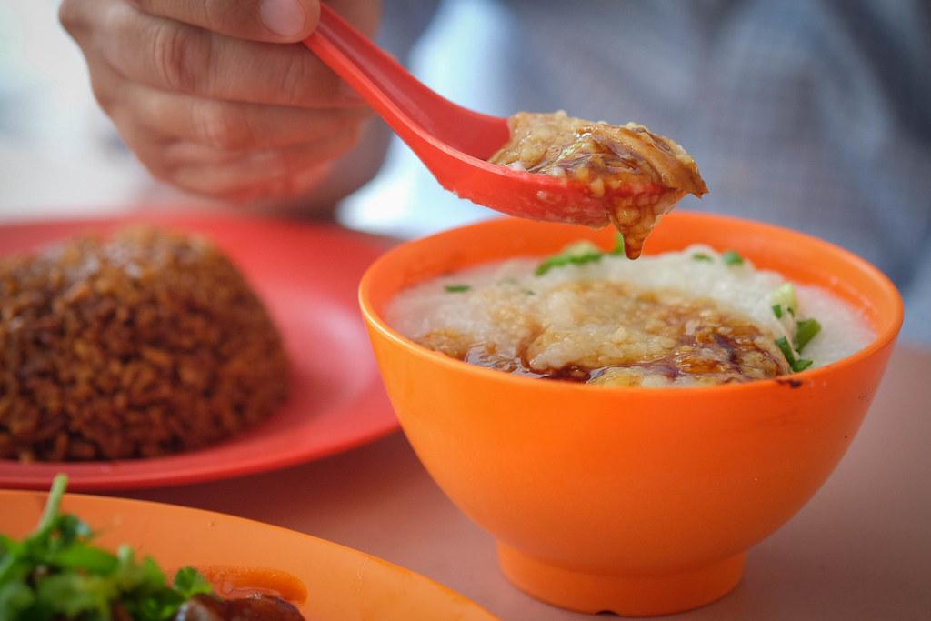 Liang Zhao Ji porridge closeup