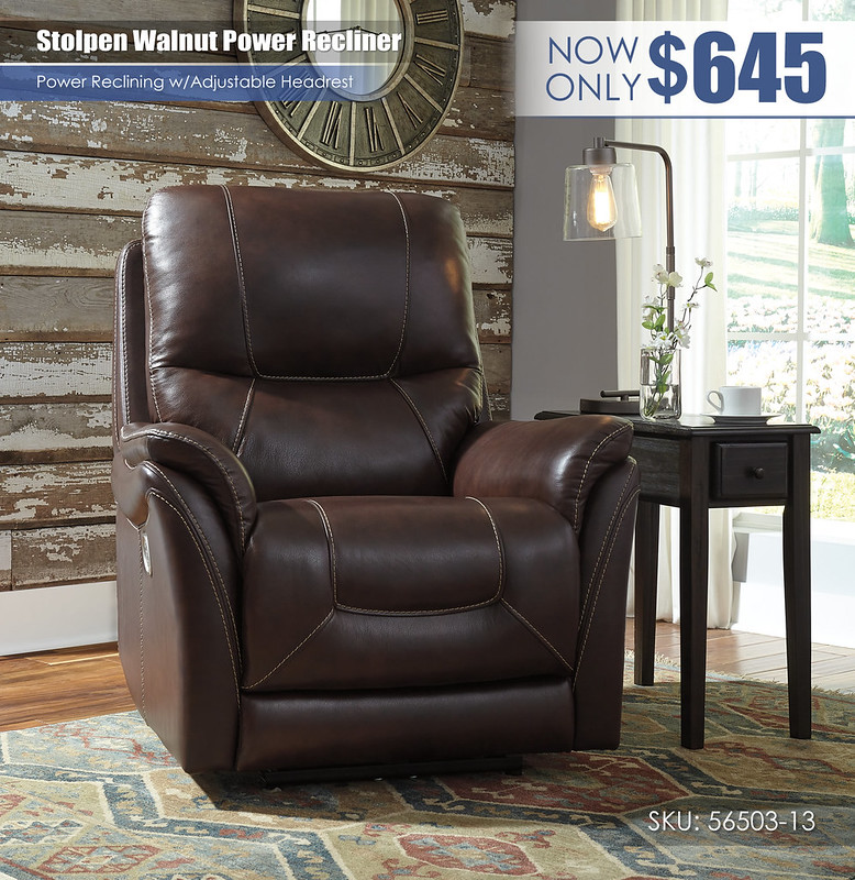 Stolpen Walnut Power Recliner_56503-13