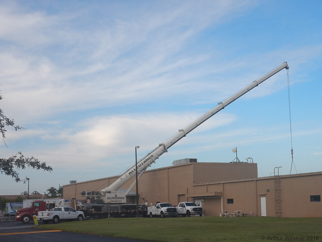 Crane; Removing Old A/C Unit & Installing a New One