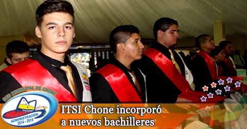 ITSI Chone incorporó a nuevos bachilleres