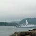 HNLMS Friesland passing through Plymouth Sound