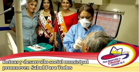 Reinas y desarrollo social municipal promueven Salud Para Todos