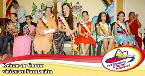 Reinas de Chone visitaron Fundación