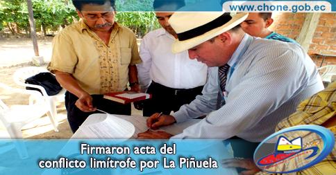 Firmaron acta del conflicto limítrofe por La Piñuela