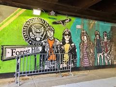 Ramones mural in Forest Hills, Queens