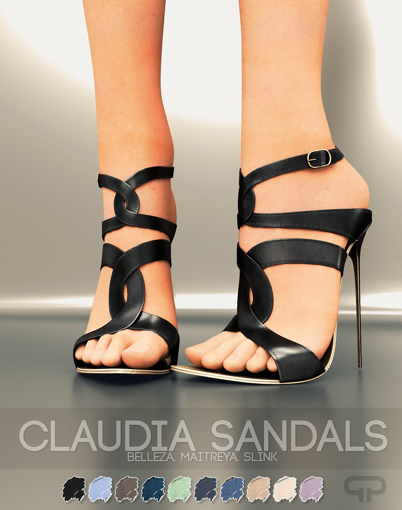 Pure Poison - Claudia Sandals - FREE Group GIFT - HUD SOLD for separately - TeleportHub.com Live!