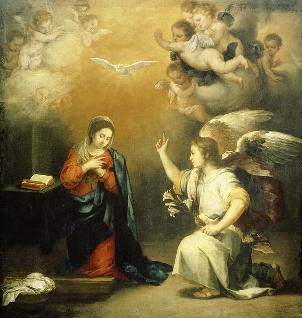 Annunciation to the Virgin, Bartolomé Esteban Murillo, 1660 - 1680