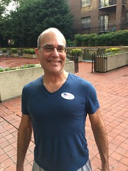 Proud voter: Jeff at the D.C. Primary, V Street NW, Washington, D.C.