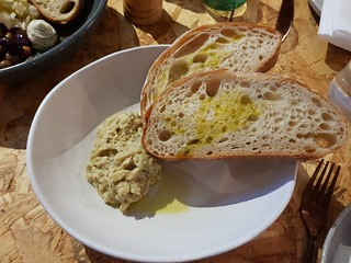 Baba ganoush and sourdough at Grown