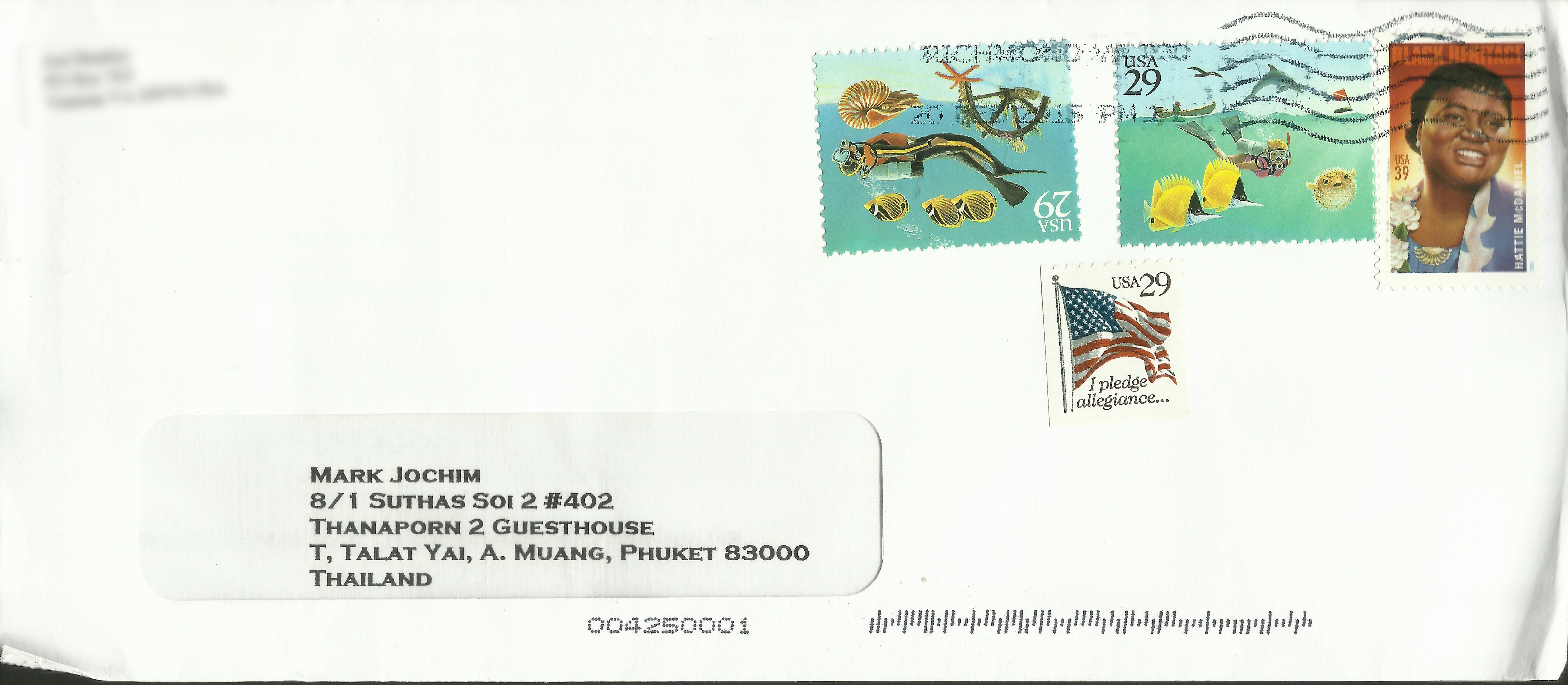 Oddly enough, I only have one copy of United States Scott #2593, which arrived on a letter in 2015.