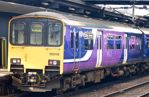 Class 150/1 'Northern Rail' No. 150118. BREL York Sprinter DMU on 'Dennis Basford's railsroadsrunways.blogspot.co.uk'