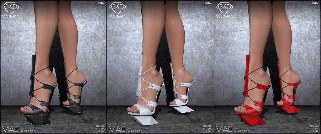 G&D Sandals Mae line adv