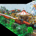 Train layout at Brick Hills Lego Display by narrow_gauge