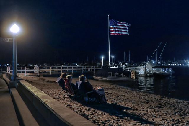 Three Americans On The Beach